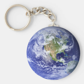 Visible Earth: The Blue Marble Basic Round Button Keychain