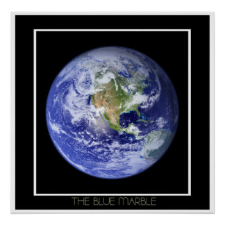 Visible Earth: The Blue Marble Poster