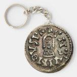 Visigoth Chindaswinth Gold Coin Obverse Basic Round Button Keychain