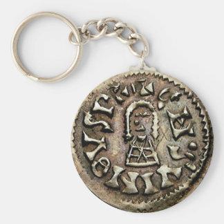 Visigoth Chindaswinth Gold Coin Obverse Keychain