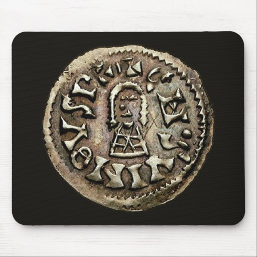 Visigoth Chindaswinth Gold Coin Obverse Mouse Pad