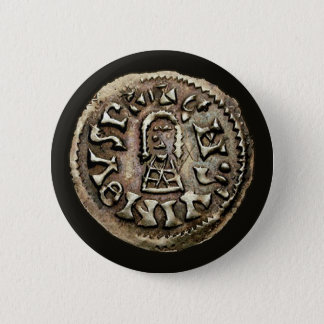 Visigoth Chindaswinth Gold Coin Obverse Pinback Button