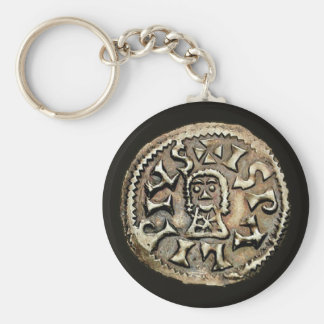 Visigoth Chindaswinth Gold Coin Reverse Basic Round Button Keychain
