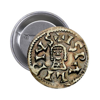 Visigoth Chindaswinth Gold Coin Reverse Pinback Buttons