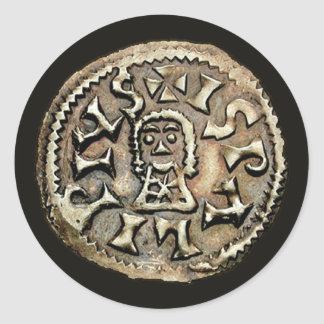 Visigoth Chindaswinth Gold Coin Reverse Stickers