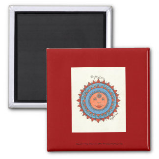"""Vision - 2"""" Square magnet (Red)"""