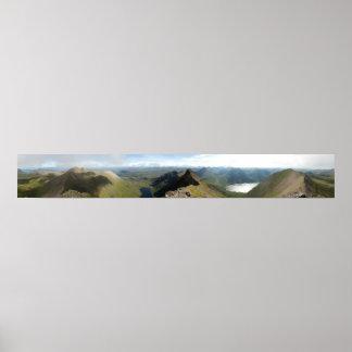 visión 360° desde Sgurr Fiona un Teallach Escocia Posters