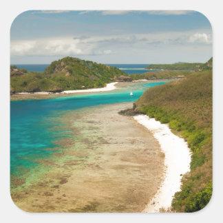 Visión a lo largo de una playa en Fiji