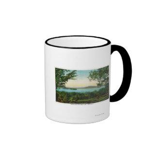 Visión a través del lago Rangeley Taza De Café