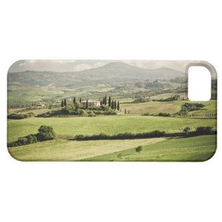Visión a través del paisaje toscano al cortijo y a iPhone 5 carcasas