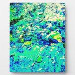 Visión acuática abstracta placa de madera