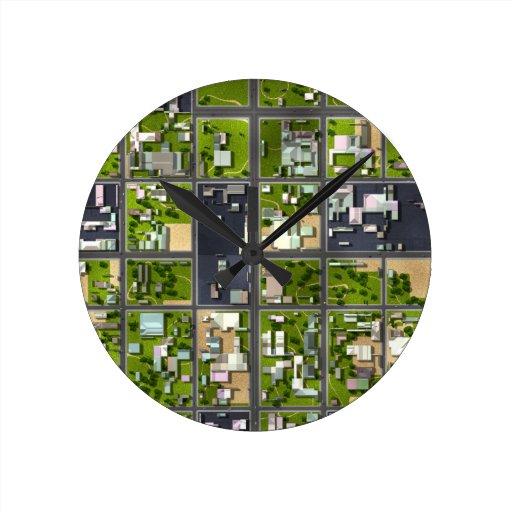 Visión aérea - reloj redondo mediano