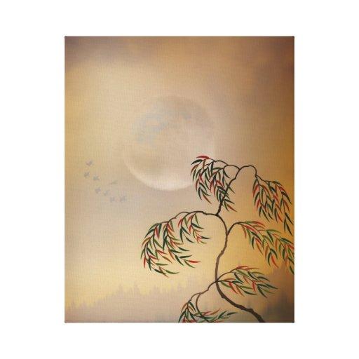 Vision ambarino impresión en lienzo estirada