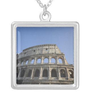 Visión amplia que mira para arriba el Colosseum Collar Plateado