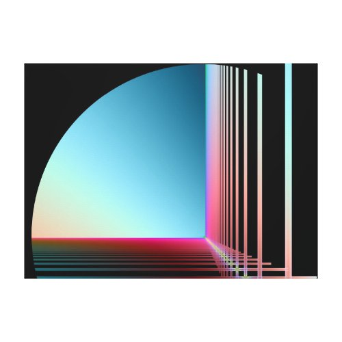 Vision Arc Stretched Canvas Print