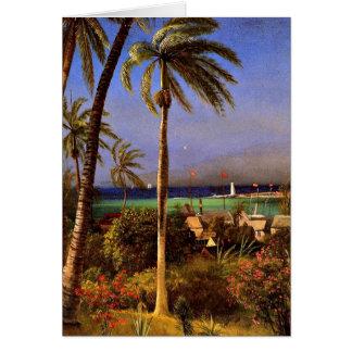 Visión bahamesa, pintura de Albert Bierstadt Tarjeta De Felicitación