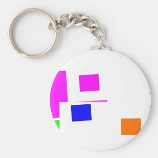 Vision Basic Round Button Keychain