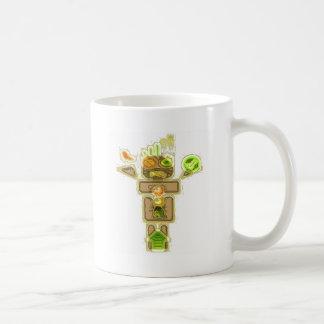 Vision borroso conductor borracho tazas de café