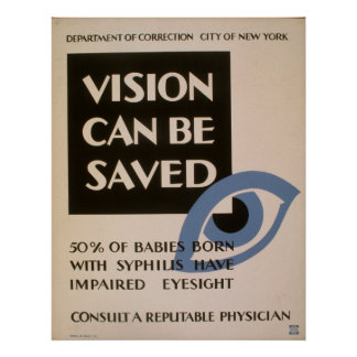 Vision Can Be Saved WPA Vintage Poster