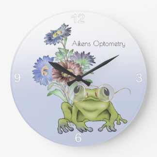 Vision Care Specialist with Frog in Glasses Large Clock