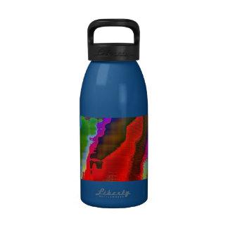 visión colorida botella de agua reutilizable