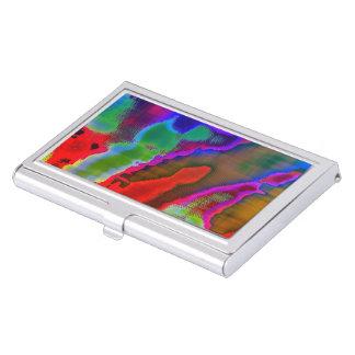 visión colorida caja de tarjetas de negocios