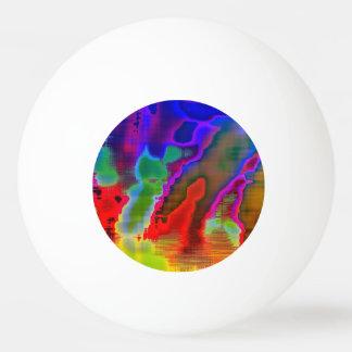 visión colorida pelota de ping pong