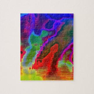 Vision colorido puzzle con fotos