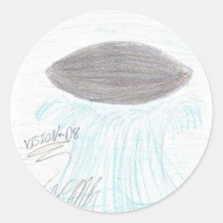 VISION-D8 CLASSIC ROUND STICKER