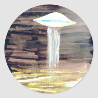 VISION-D8 painting 2 inverted bright Classic Round Sticker
