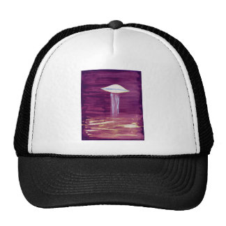 VISION-D8 painting blue green hue inverted Trucker Hat