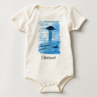 VISION-D8 painting blue hue Baby Bodysuit