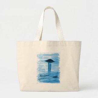 VISION-D8 painting blue hue Large Tote Bag