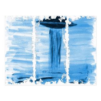 VISION-D8 painting blue hue Postcard