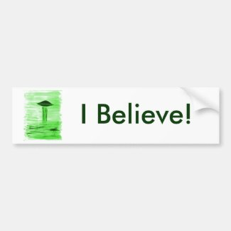 VISION-D8 painting br green hue Bumper Sticker
