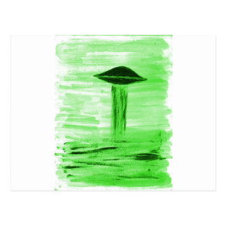 VISION-D8 painting br green hue Postcard
