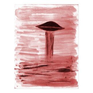 VISION-D8 painting burgandy hue Postcard