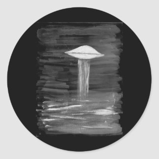 VISION-D8 painting grayscale inverted Classic Round Sticker