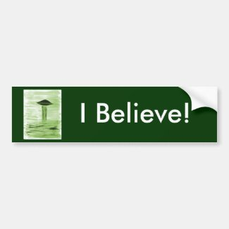 VISION-D8 painting green hue Bumper Sticker