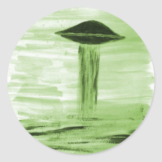 VISION-D8 painting green hue Classic Round Sticker