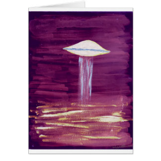VISION-D8 painting purple Greeting Card
