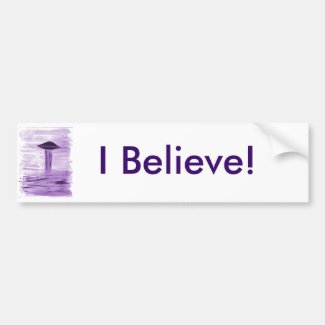 VISION-D8 painting purple hue Bumper Sticker