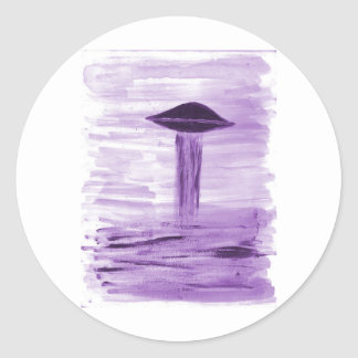VISION-D8 painting purple hue Classic Round Sticker