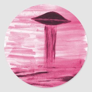 VISION-D8 painting rose hue Classic Round Sticker