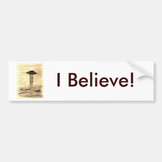 VISION-D8 painting sepia Bumper Sticker
