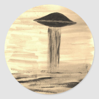VISION-D8 painting sepia Classic Round Sticker