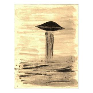 VISION-D8 painting sepia Postcard