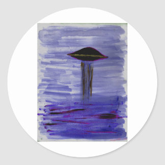 VISION-D8 painting violet hue Classic Round Sticker