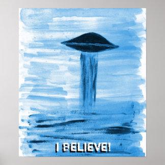 VISION-D8 que pinta tonalidad azul Poster