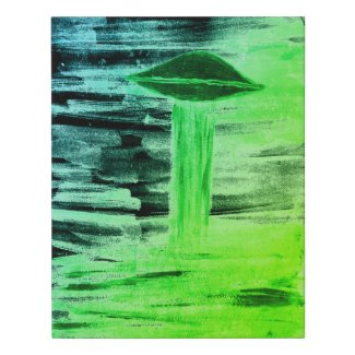 VISION-D8 UFO Alien Abduction Watercolor Faux Canvas Print